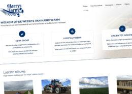 De homepage van Harrysfarm