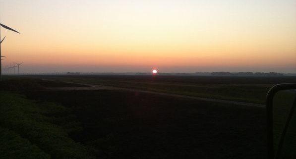 24 oktober 2011: mooie opkomende zon