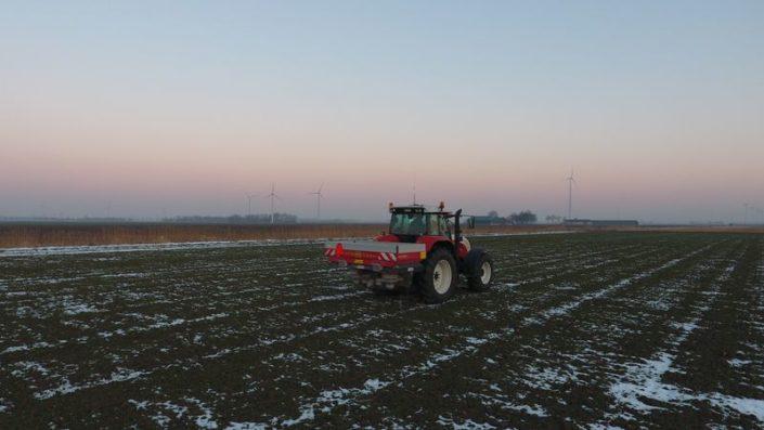 14 februari 2017; eerste bemesting wintertarwe
