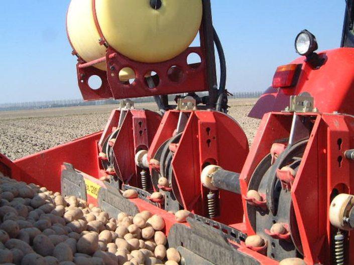 5 april 2002; aardappels poten, doperwten zaaien