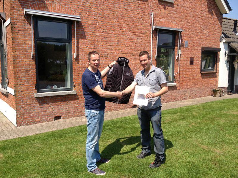 7 juni 2013; uitreiking Pieperprijsvraag bodywarmer