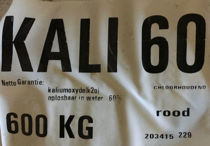 7 februari 2018; Kali 60 strooien op uienland