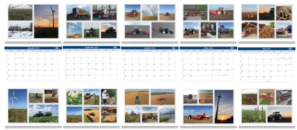 19 november 2018; Harrysfarm jaarkalender 2019